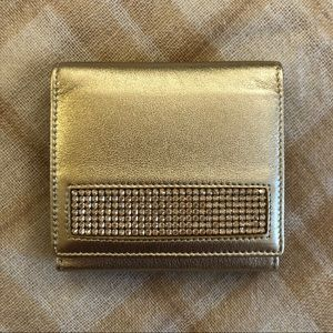 NIB Swarovski Light Gold Wallet
